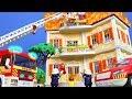 PLAYMOBIL bomberos español Operación de rescate familiar por los bomberos | Películas infantiles