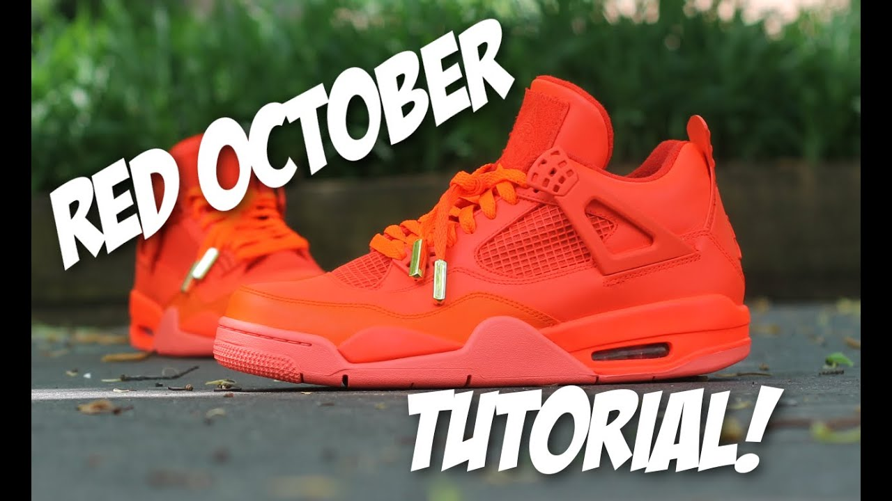 769ac68047b0d7 ... shop red october jordan 4 custom tutorial youtube 9c537 7e972