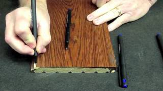 Graining Pen Wood Grain On Epoxy Repair Touch Up