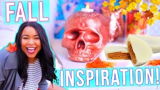 FALL INSPIRATION! Outfit Ideas, DIY Room Decor+DIY Treat!