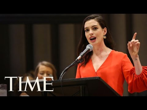 Anne Hathaway Speaks At United Nations For International Women's Day | TIME
