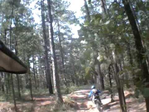 CRF 250X, KTM, enduro / trail ride at Kisatchie Forest, Camp Claiborne, Louisiana, helmet camera