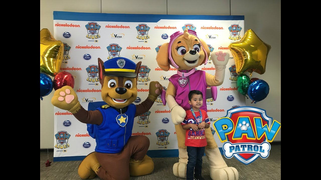 Paw Patrol Live Vip Pass Meet And Greet With Chase Skye Youtube
