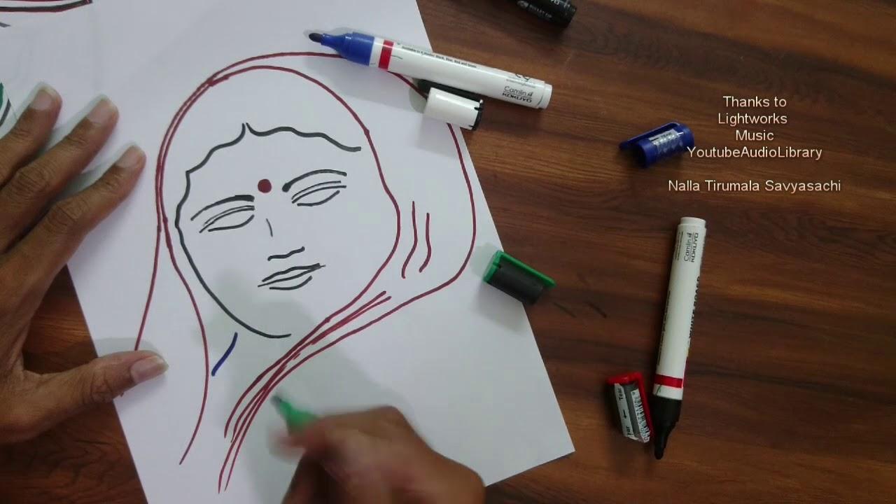 How To Draw Ahilyabai Holkar Drawings
