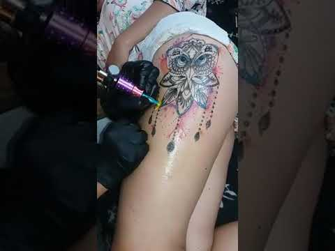 Tattoo Buho Acuarela Atrapasueños Youtube