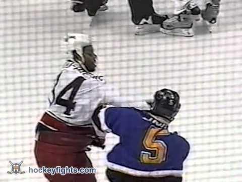 Jean-Luc Grand-Pierre vs Barret Jackman Dec 29, 2002