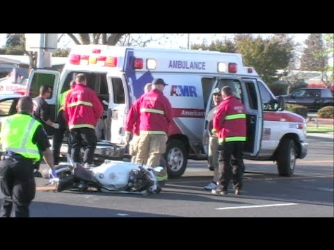 Fatal Motorcycle Crash - Tragic Motorcycle Accident In Modesto - Motorcycle Vs SUV - News Footage