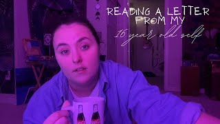 reading a letter from my 16 year old self