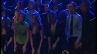 Choir (Perpetuum Jazzile) create a rainstorm with hands