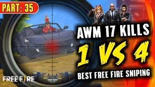 One vs Squad Best AWM Sniping 17 Kills - Garena Free Fire