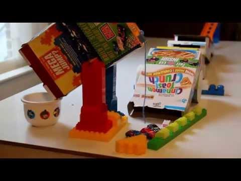 Mega Bloks Rube Goldberg Machine To Pour Cereal