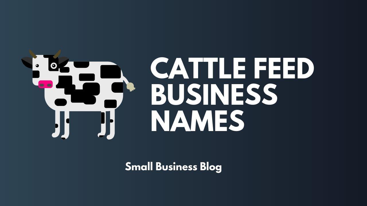 Creative Cattle Feed Company Names
