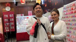 Lê Giang Trấn Thành Hari Thu Minh  Trúc Nhân Ali Hoàng Dương Huỳnh Ân thả lồng đèn tại Đài Loan