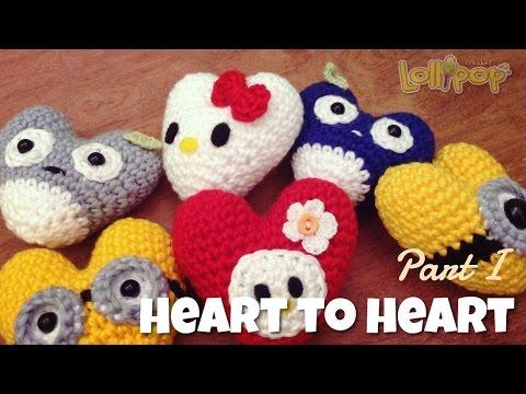 DIY หัวใจโครเชต์ง่ายๆ Part 1 (English Subtitles/Amigrurumi Heart 2 Heart)
