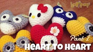 Repeat youtube video DIY หัวใจโครเชต์ง่ายๆ Part 1 (English Subtitles/Amigrurumi Heart 2 Heart)
