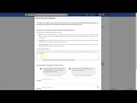 Setting Up Subscription Messaging On Your Facebook Page