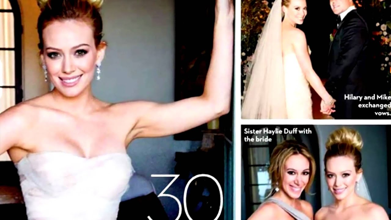Hilary duff and mike comrie ok magazine wedding pictures youtube junglespirit Images