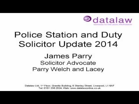 Police Station and Duty Solicitor Update 2014