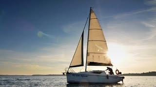 ANTILA 24 - czarter jachtu na Mazurach, zobacz jak pływa i wyposażenia jachtu