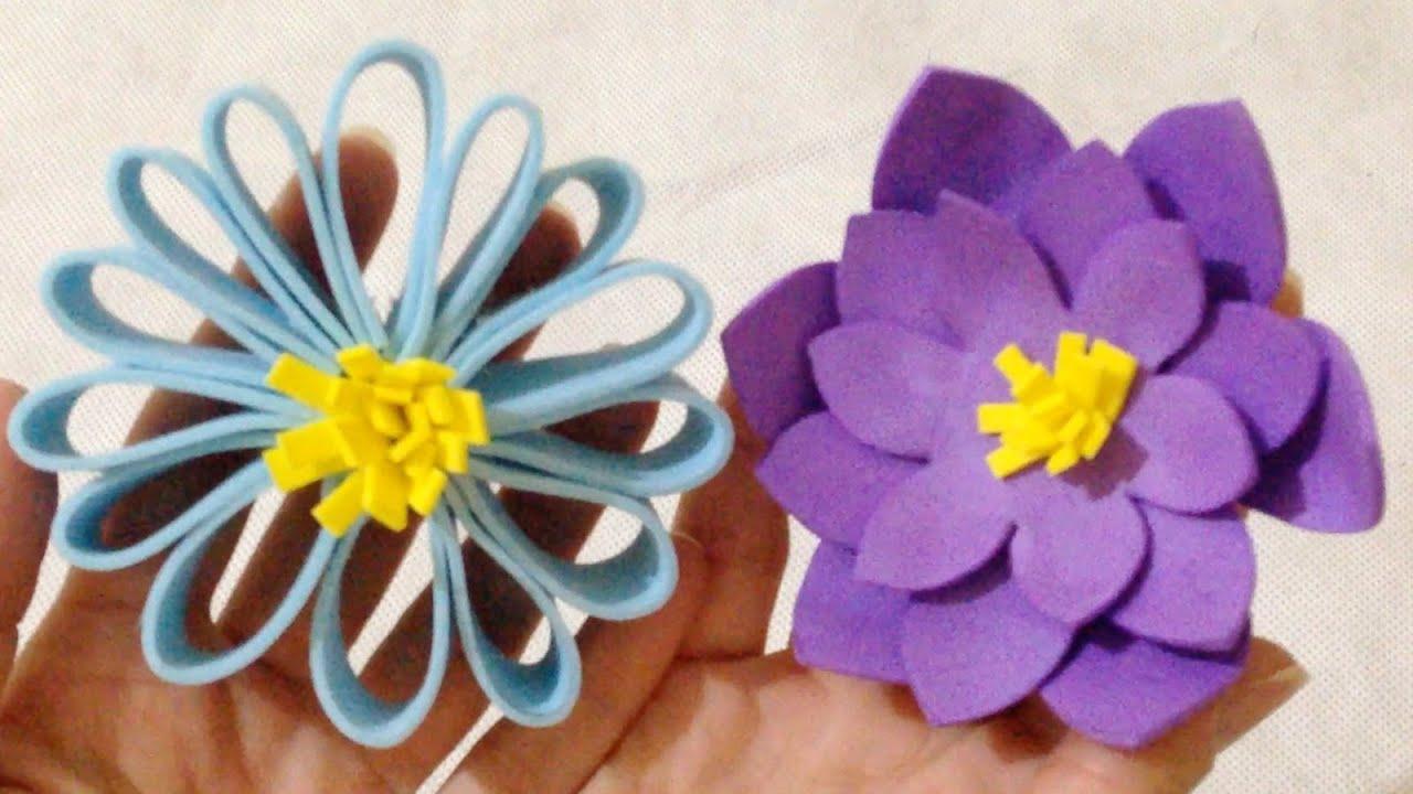 como fazer flores em papel eva passo a passo diy