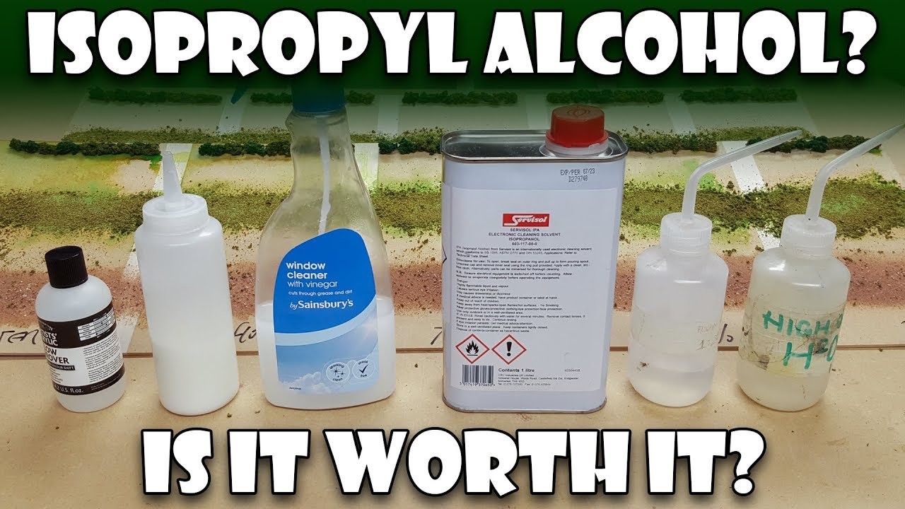 Isopropyl (Rubbing) Alcohol - Is it worth it for modelling?