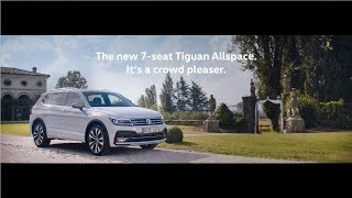 The new 7-seat Tiguan Allspace. It's a crowd pleaser.