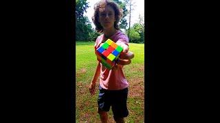 Rubik's Cube Backflip | #Shorts