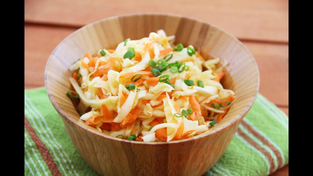 Салаты рецепты с капустой и морковью с уксусом