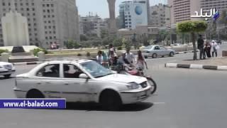 بالفيديو والصور.. زحام بكورنيش التحرير في ثاني أيام العيد