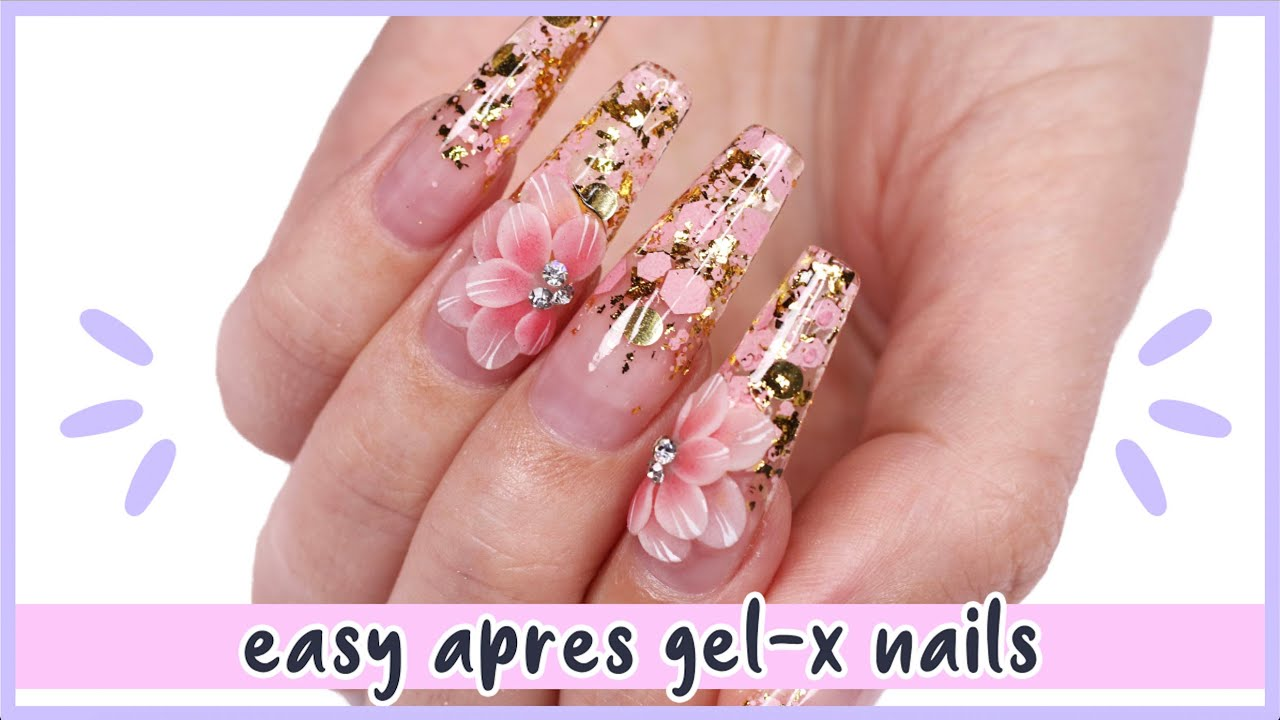 New Nail Art 2020 ♡ Easy Floral Encapsulated Glitter Nails!