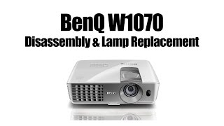 BENQ W1070 Disassembly - Changing Lamp and Cleaning Blower Fan After Light Exploded