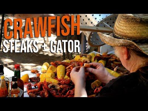 Crawfish, Alligator and Ribeye Steaks Recipes