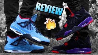 TRAVIS SCOTT Jordan 4 CACTUS JACK Review !   Jordan 4 RAPTOR REVIEW !   Cactus Jack On Feet