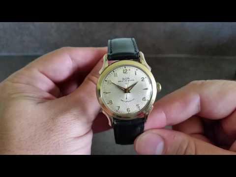 c1958 Elgin Pensacola self winding vintage watch with box