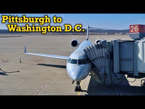 Full Flight: American Eagle CRJ-700 Pittsburgh To Washington D.C. (PIT-DCA)