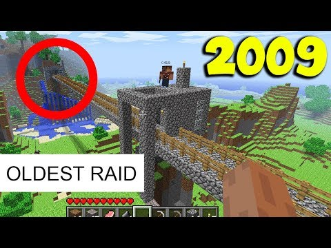 THIS WAS THE OLDEST MINECRAFT RAID OF ALL TIME (SO MUCH NOSTALGIA!!!)