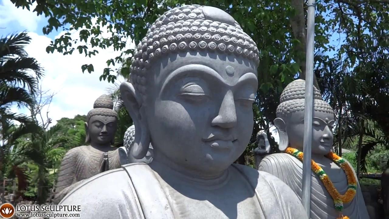 Stone Large Sitting Kamakura Buddha Garden Statue Www.lotussculpture.com