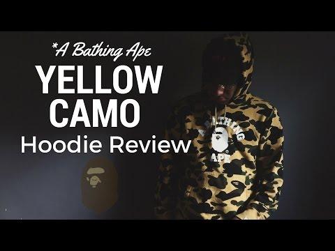 Bape Yellow 1st Camo Hoodie Review