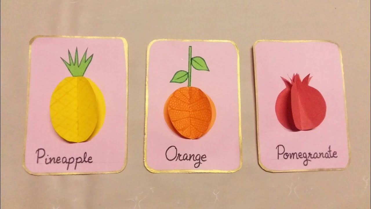 3D fruits for kids/3D fruits idea for kids/kids activities