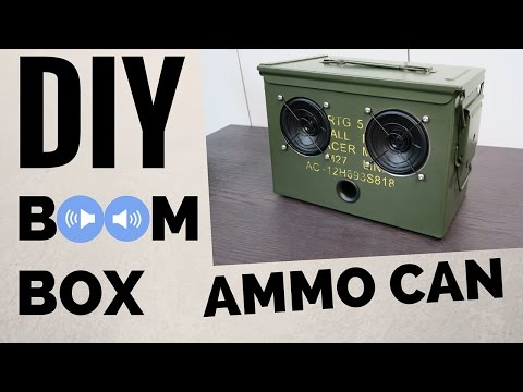 DIY Ammo Can Bluetooth Boombox.