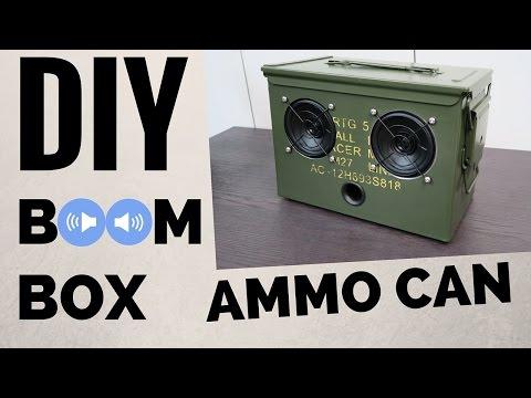 DIY Ammo Can Bluetooth Boombox.