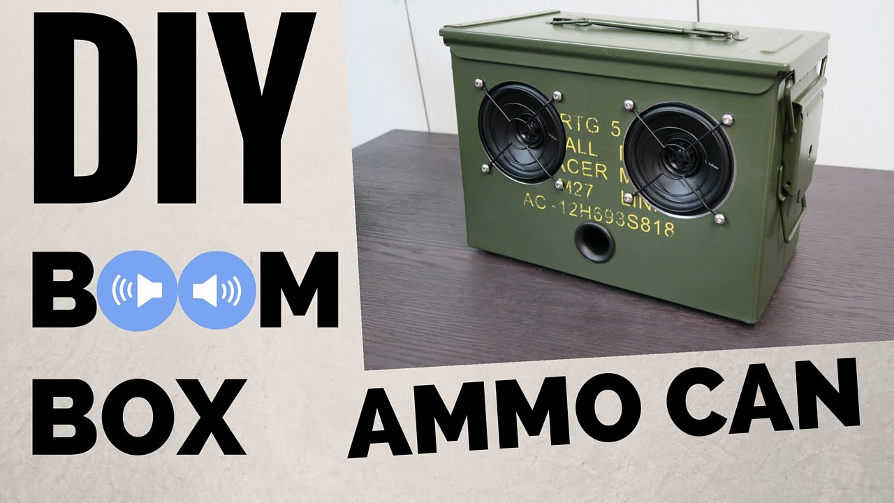 maxresdefault diy ammo can bluetooth boombox youtube Ammo Can Cup Holder at virtualis.co