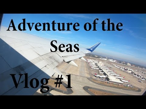 Vlog #1 Adventure of the Seas (Flight from Flint to San Juan) Royal Caribbean