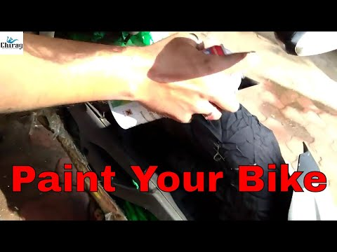 How to spray paint a bike without tacking it part