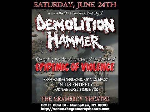 Demolition Hammer Live Gramercy Theatre 2017 Promo