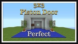 Minecraft Tutorial : 3X3 Piston Door (Compact & Fast)