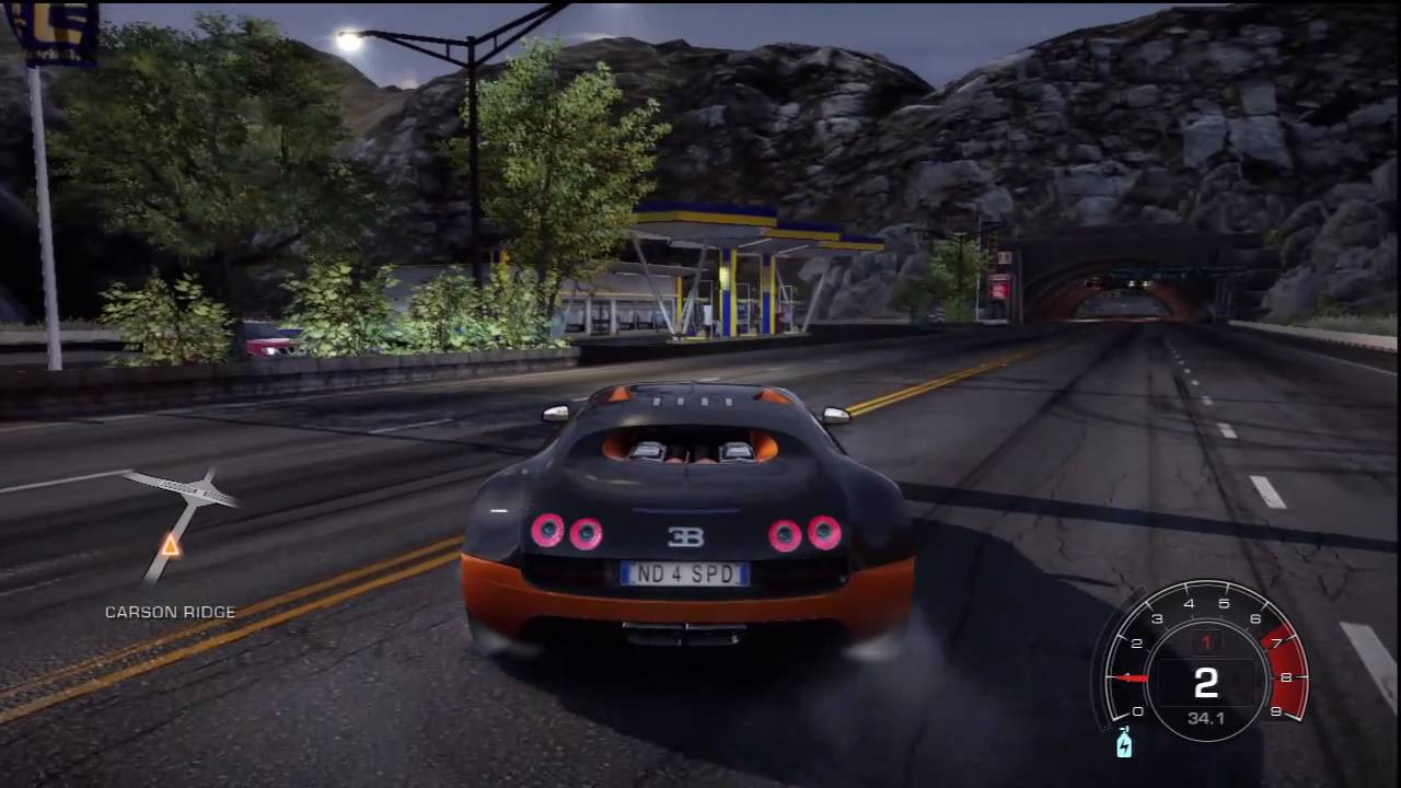 need for speed hot pursuit bugatti veyron 16 4 super sport free roam hd youtube. Black Bedroom Furniture Sets. Home Design Ideas