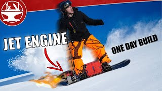 JET ENGINE Powered Snowboard! (ONE DAY BUILD)