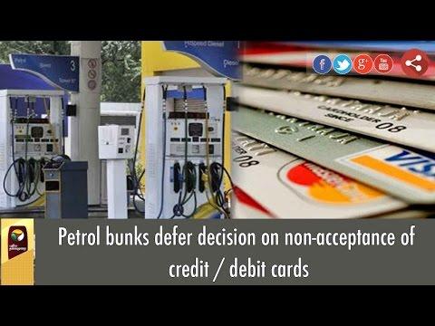 Petrol bunks defer decision on non-acceptance of credit / debit cards