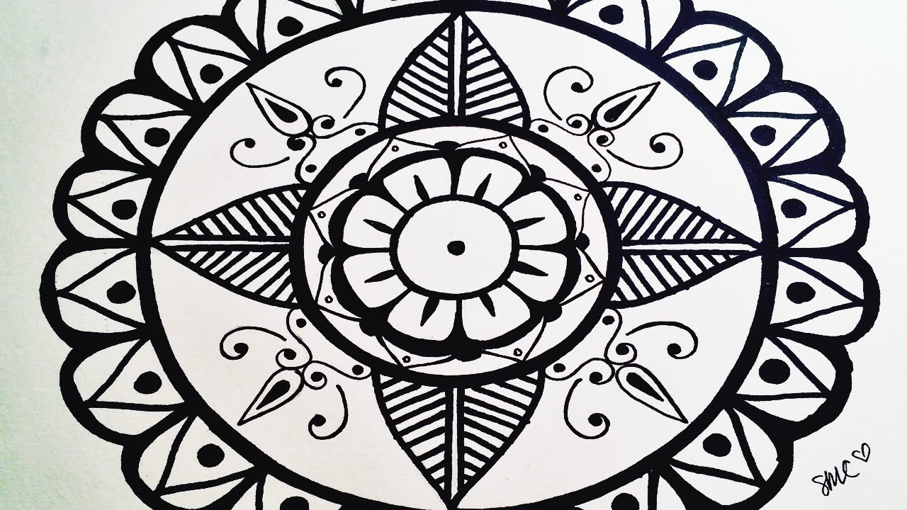 Draw A Very Simple Mandala For Beginners Step By